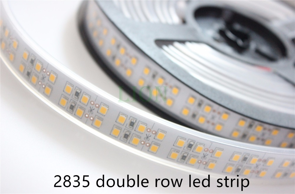 1/2/3/4/5M Double Row 2835 Led Strip 1200 Leds  White /Warm White WaterproofIP20 / IP67 240 Leds/m More Brighter Than 3528 Strip