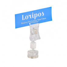 20 stücke POP kunststoff werbung clips magnetische label halter regal montiert zeichen halter clip ständer magnet preis tag display clip