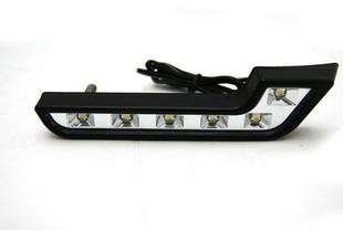 2 piece Super Bright White 6 LED DRL 6000K 7 Shape Car Daytime Running Driving Light Application for Mercedes Benz