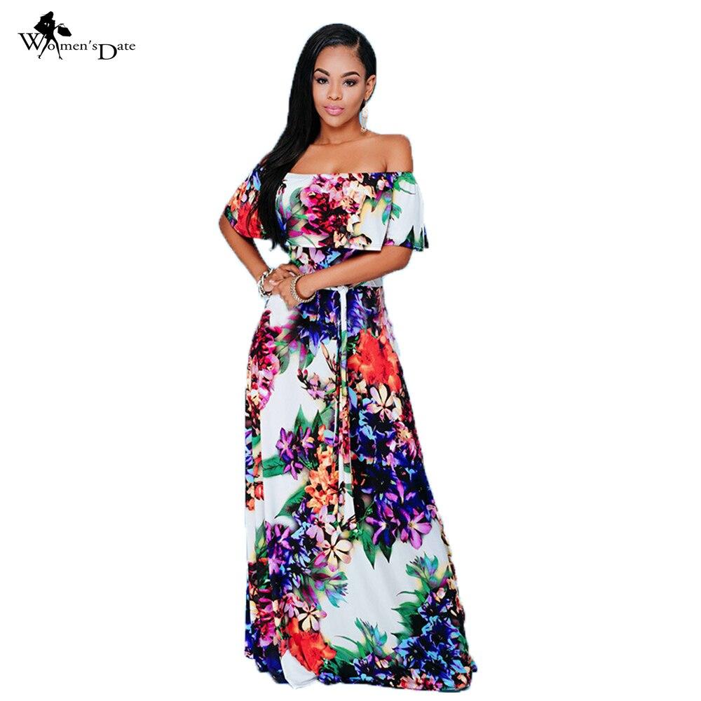 WomensDate Women Boho Maxi Dress 2017 New Spring Summer