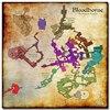 Шелковый плакат гобелен игра Bloodborne карта