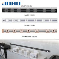 JOHO 150CM Aluminum Socketbar 8000W USB Socket Power Wall Charger Adapter Electric Wall Charger Adapter 250V For Living Room