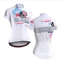 Life on track 3D Print Short Sleeve Cycling Jersey Outdoor Sportswear Quick Dry Anti-sweat Breathable Women Bike Jersey W2902