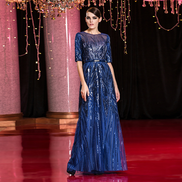 Celebrity Dresses 2017 high quality sexy with hand-sewing beads crystals gala carpet Vintage Evening Party Dress