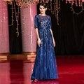 Celebrity Dresses 2017 sexy de alta qualidade com mão-de costura contas cristais gala tapete Do Vintage Vestido de Festa À Noite