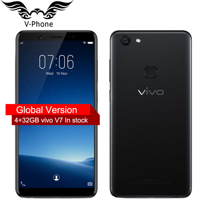 Global Version VIVO V7 4G LTE Phone Mobile phone 5.7 inch 4GB RAM 32GB ROM Octa Core 24.0MP 3000 mAh Android Smart Phone