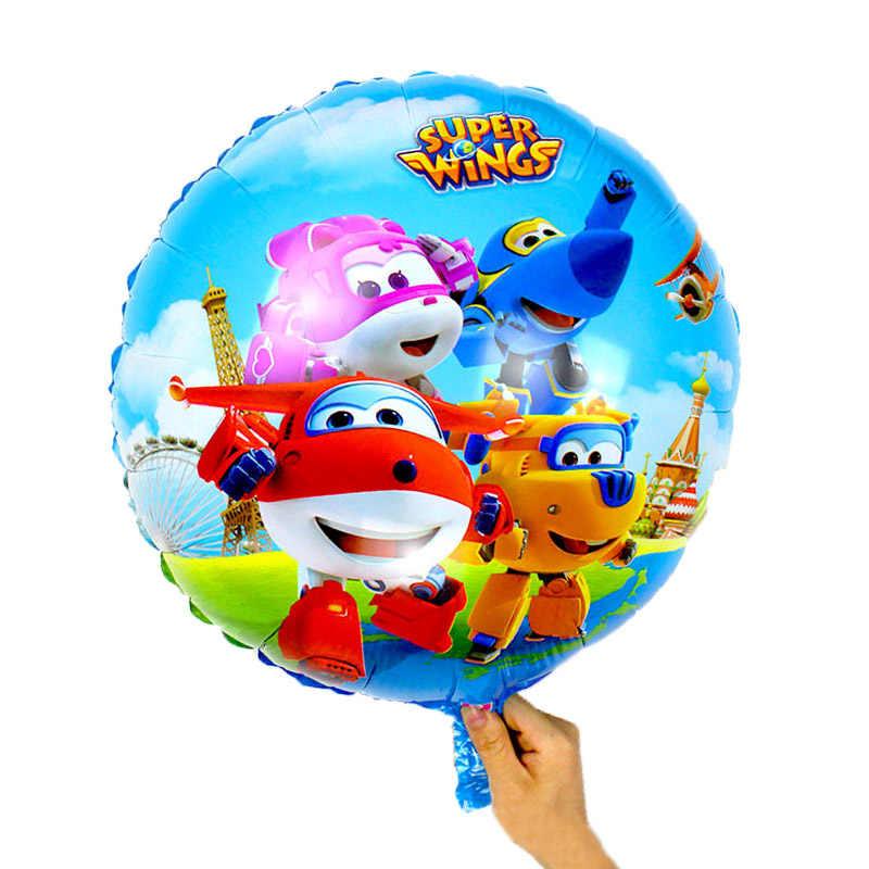 50 pcs 18 polegadas Super Asas Jett balões Super Asas brinquedos Balão Decorações Da Festa de Aniversário crianças brinquedos globos suprimentos 45*45 cm