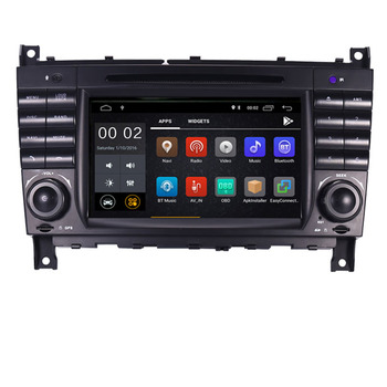 "7""HD 1024x600 Quad core Android 10 Car DVD Player for Mercedes W203 android C200 C230 C240 C320 C350 CLK W209 GPS Radio WiFi 3G"
