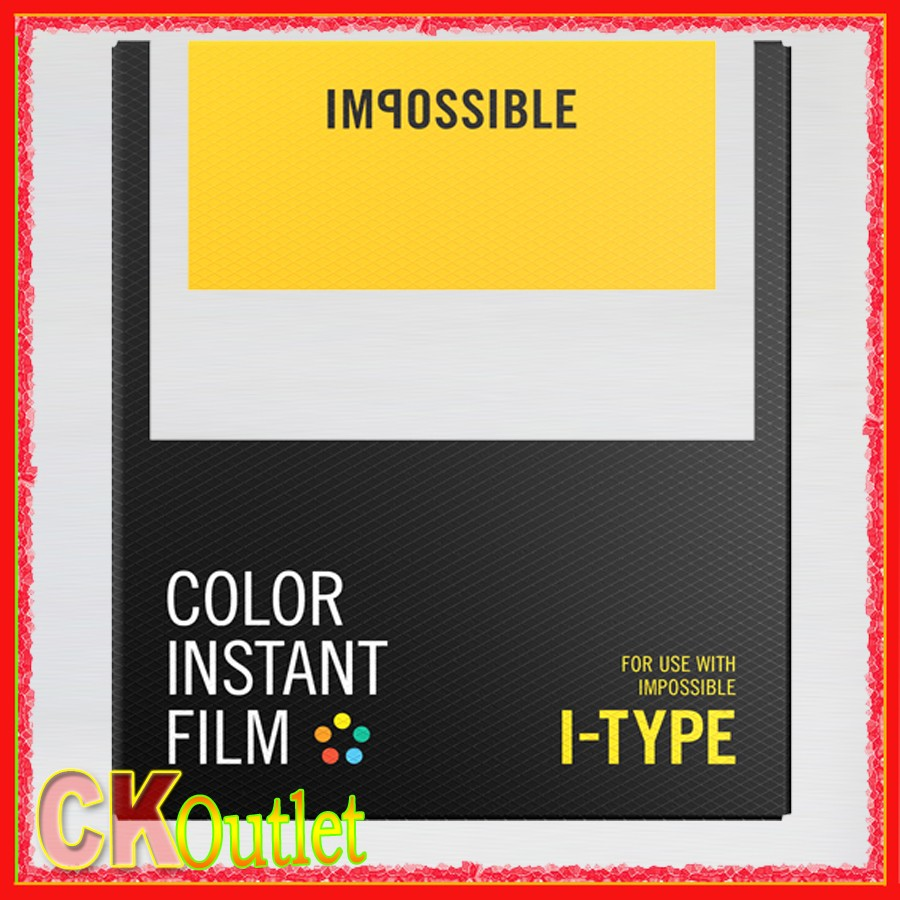 Impossible Project Color Film for I Type Camera Instant White Frames ...