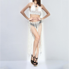 Women Bikini Bandage Tassel Skirts White Black