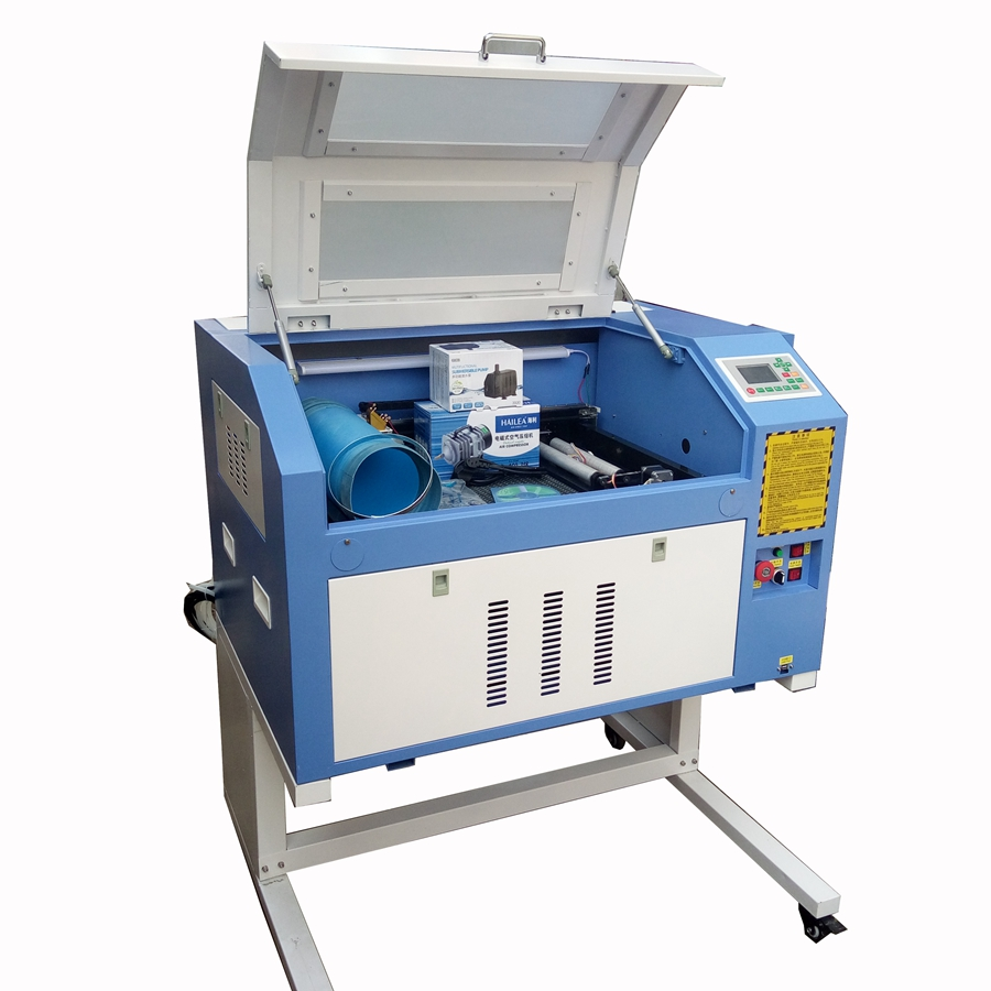 CO2 Laser Engraving Cutting Machine TS4060 Working Table Size 600*400mm Support Computer System Windows XP/win7/ Win8/win10