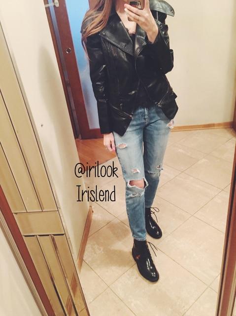 Autumn Women Faux Leather Gothic Black Zippers Long sleeve Jacket 4