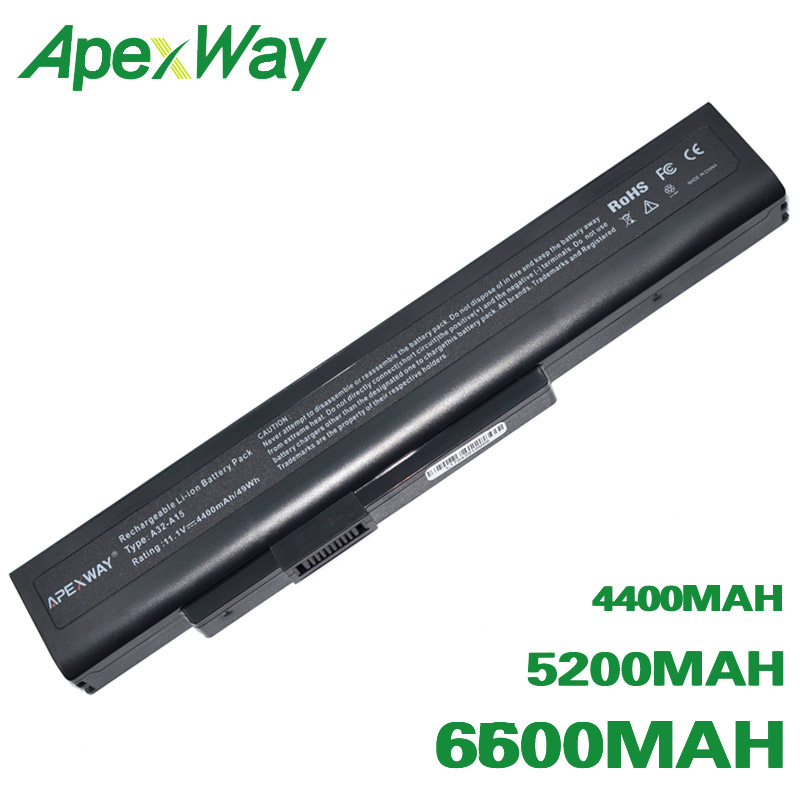 ApexWay Battery For <font><b>MSi</b></font> A32-A15 A41-A15 A42-A15 A42-H36 A6400 CR640 CR640DX CR640MX CR640X CX640 <font><b>CX640DX</b></font> CX640X image