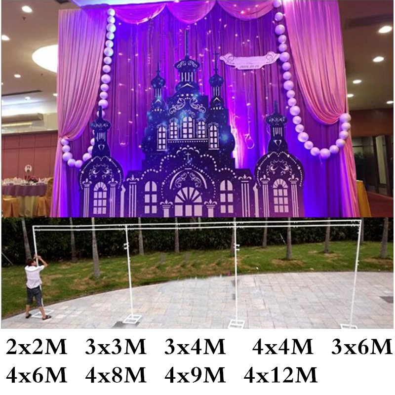 Drop Shipping Many Sizes Stainless Steel Pipe Wedding Expandable Rods Backdrop Stand Frames birthday party decorations