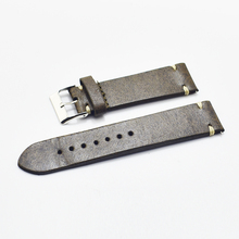 Handmade Leather Watchband Strap 18mm 20mm 22mm 24mm Watch Accessories Stainless Steel Men Woman High Quality 2018 new