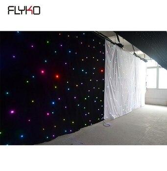 Бесплатная доставка заводская цена Звездный СВЕТОДИОДНЫЙ занавес 3x6 м 108 pcs RGB в 1 для сценический фон