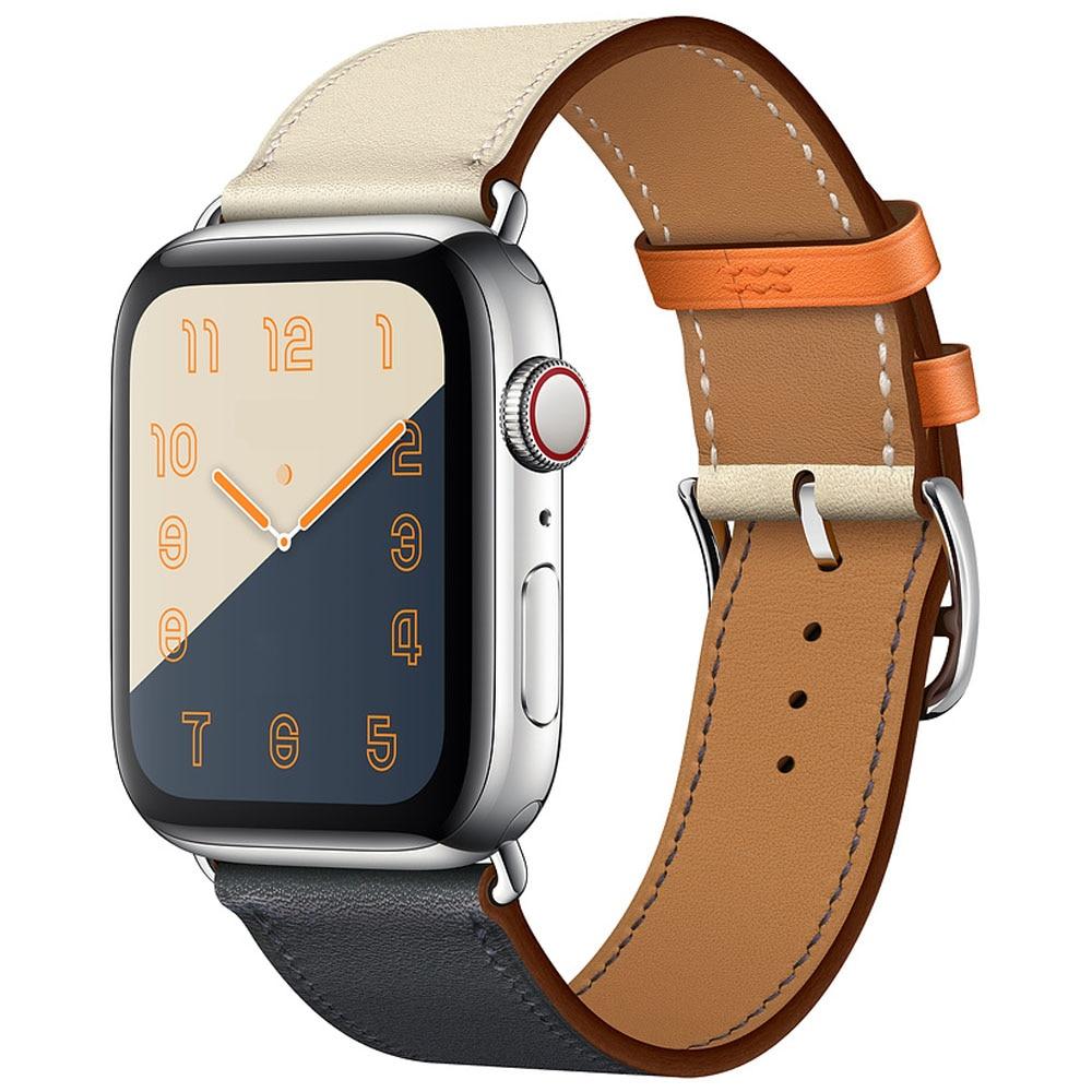 Originální kožený pásek na hodinky pro hodinky Apple 44MM 40MM - Příslušenství k hodinkám - Fotografie 4