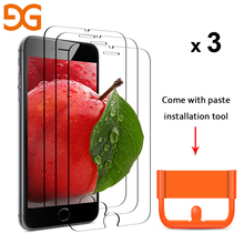 GUSGU 9H 2.5D 0.2mm Screen Protector For iPhone 8/8 plus Tempered Glass For iPhone 7/7 Plus/6/ 6s Plus Film For iPhone 5(3 Pack)