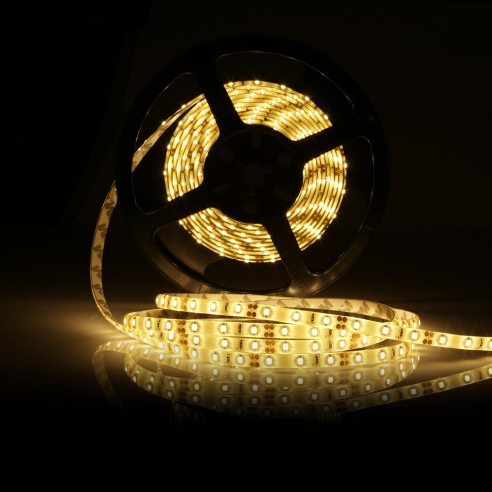 5M 2835 Led Strip Light waterproof Led Ribbon lamp 2835 DC12V 60Leds/M Fiexble Light Led Ribbon Tape 5M SMD 60W Led Strip Light