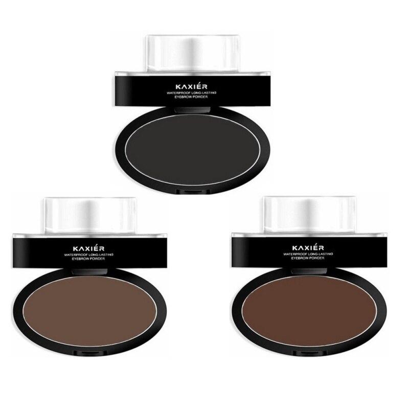 Eyes Makeup Brow Stamp Eyebrow Powder Waterproof Grey Brown Eye Brow Powder with Eyebrow Brush Tools