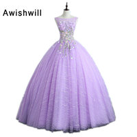 Custom Made Sleeveless Appliques Lace Ball Gown Prom Dress Gala Dress for Special Occasion Real Photo Abiye Abendkleider
