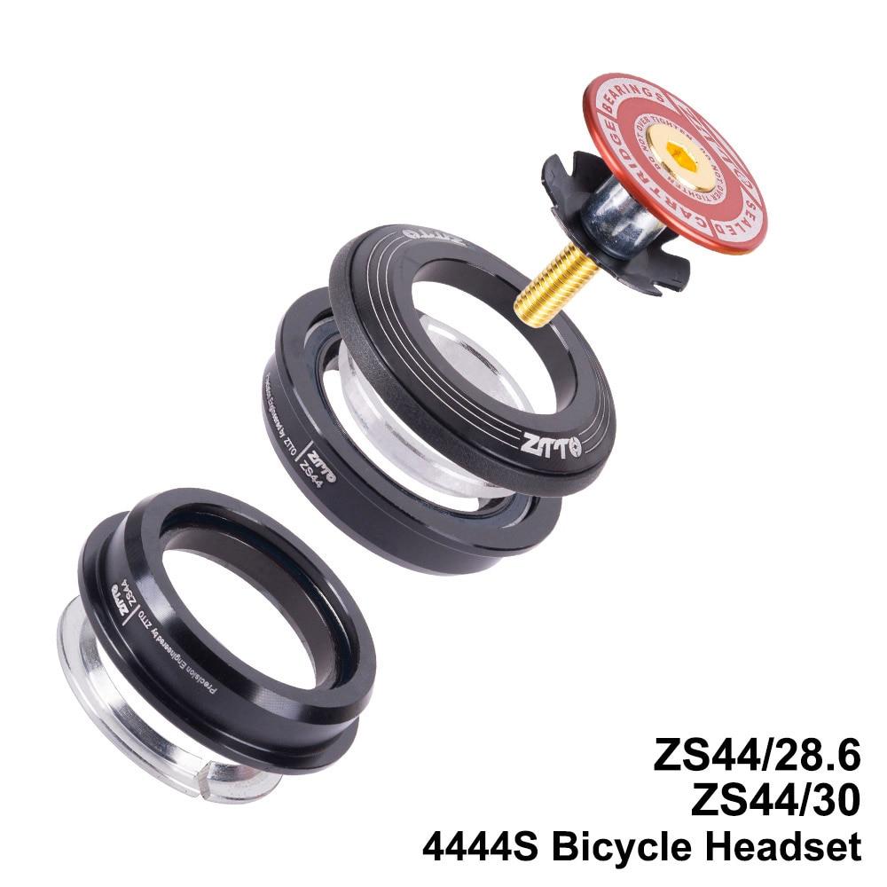 MTB Bike Road Bicycle Headset 44mm 44mm CNC 1 1/8 28.6 Straight Tube fork Internal ZS44 SEMI-INTEGRATED Headset 4444SMTB Bike Road Bicycle Headset 44mm 44mm CNC 1 1/8 28.6 Straight Tube fork Internal ZS44 SEMI-INTEGRATED Headset 4444S