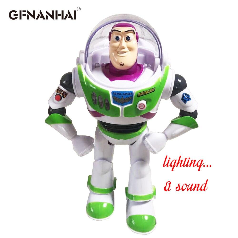 1pc 30 cm brinquedo história 4 falando buzz lightyear ação brinquedo figuras modelo brinquedos crianças lembrança presente de natal brinquedo original