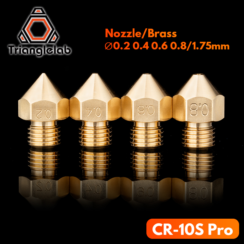 Trianglelab CR-10S Pro Brass Nozzle For 3D Printers Hotend 1.75MM Filament J-head Cr10S PRO Heat Block Ender3 Hotend M6 Thread