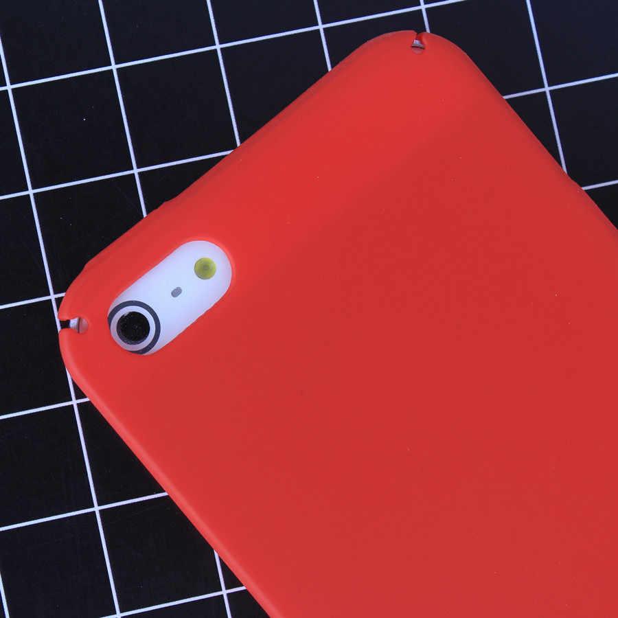 Fundas de silicona para teléfono iPhone 6 6 s 7 8 Plus Coque vino rojo rosado funda para iPhone 5S SE funda trasera Ultra delgada dura de colores dulces