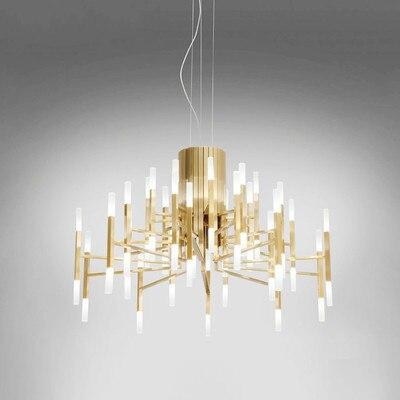 Schwarz Weiss Gold Kronleuchter 24 36 60 Lichter Kunst Designer Lampen Fr Wohnzimmer Kche Schlafzimmer Leuchte G9
