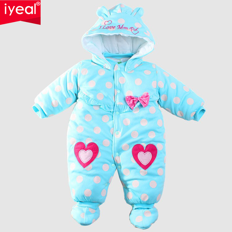 IYEAL Baby Winter Romper cotton-padded One Piece Newborn Baby Girl Warm Jumpsuit Autumn Fashion baby's wear Kid Climb Clothes iyeal newborn winter clothes cotton padded baby clothing long sleeve hooded animal baby girl boy romper cartoon warm jumpsuit