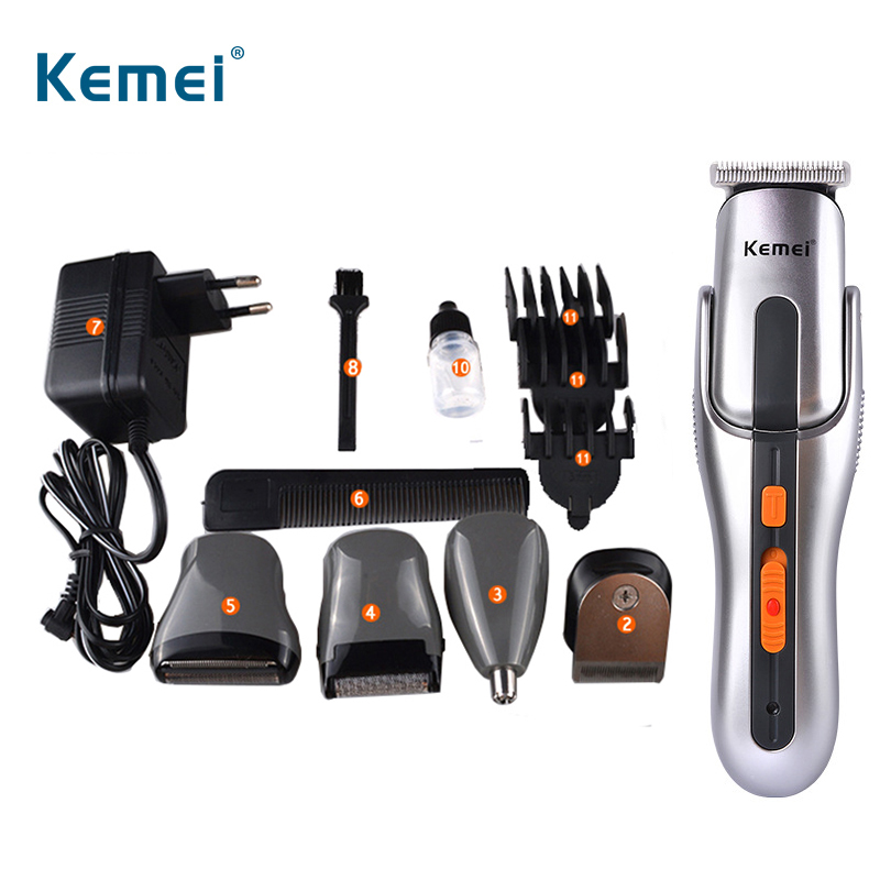 Kemei Multifunction New Cutter Electric Rechargeable Trimmer Razor Clipper EU plug Shaver цена и фото