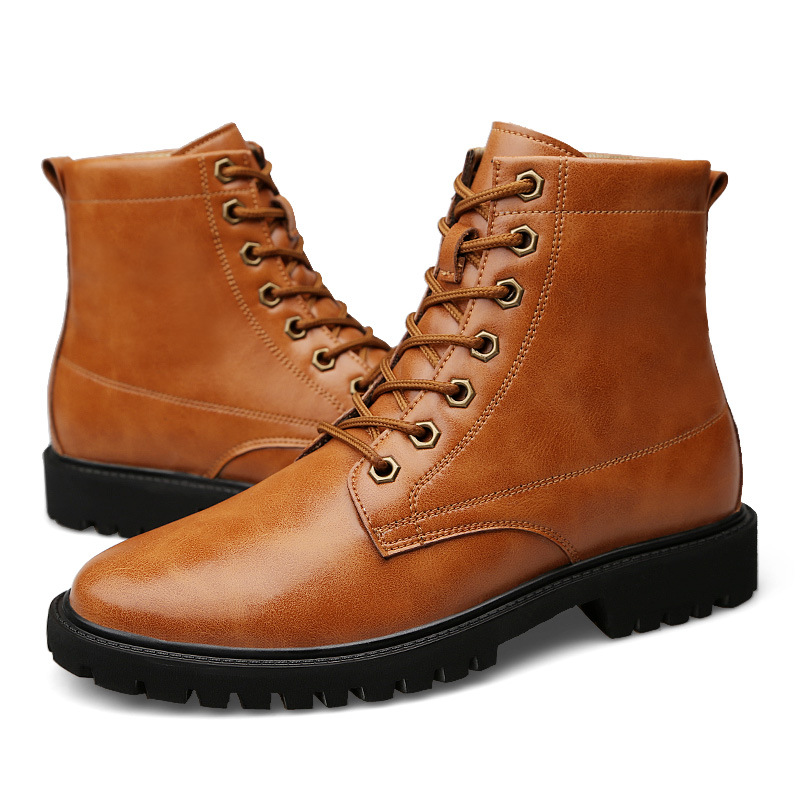 Bottines Air Imperméables Bottes Qualité Cuir D'hiver De Véritable Hommes brown Chaussures Plein Merkmak Automne Boots Black Pour Travail En Haute Boots S4nqvz