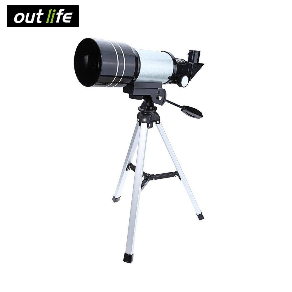Outlife 15-150x 70 мм F30070 Монокуляр Профессиональный пространство астрономического телескопа 90 градусов с штатив