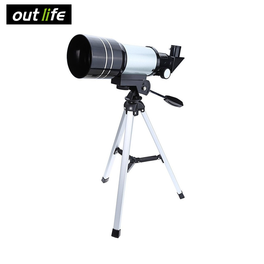 Outlife 15-150x 70mm F30070 Monocular Professional Space Astronomical Telescope 90 Degrees with Tripod visionking 150750 150 750mm 6 equatorial mount space reflector astronomical telescope
