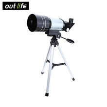 Outlife 15-150x 70mm F30070 Monocular Professional Space Astronomical Telescope 90 Degrees with Tripod