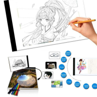 Ultra Thin A4 LED Drawing Art Canvas Copy Tracing Drawing Table Pad Light Box USB Stencil