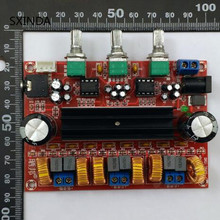 10 pcs TPA3116D2 2.1 เครื่องขยายเสียงดิจิตอล 80 W * 2 + 100 W ซับวูฟเฟอร์ 2.1 amplificador สำหรับ 4 8 ohm SpeakerDC24V XH M139