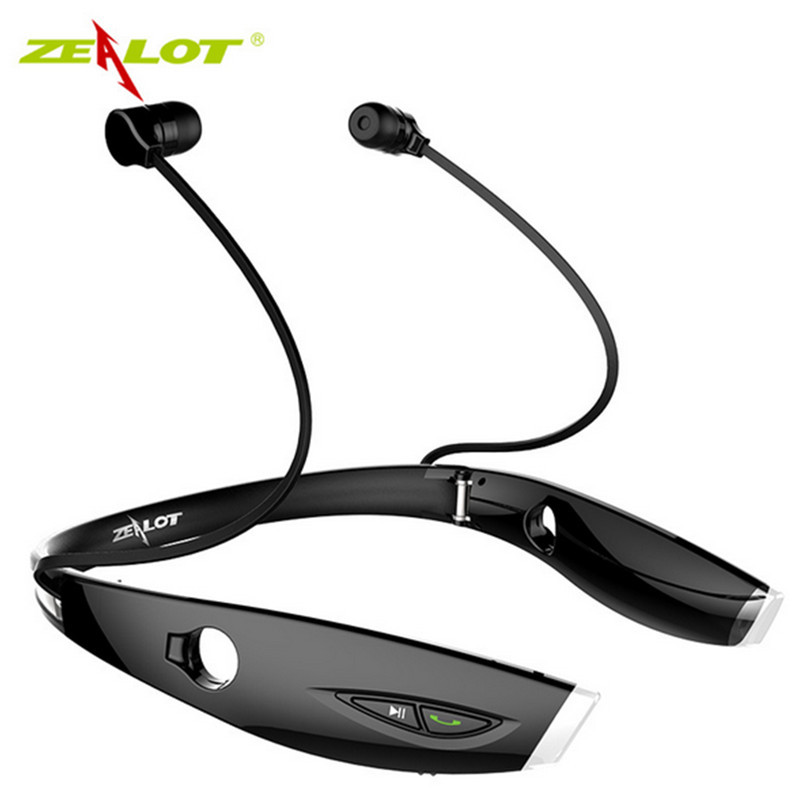 New Fashion Neckband Bluetooth Sport Stereo Headset Zealots H1 HiFi Headphones With Mic For iPhone Samsung