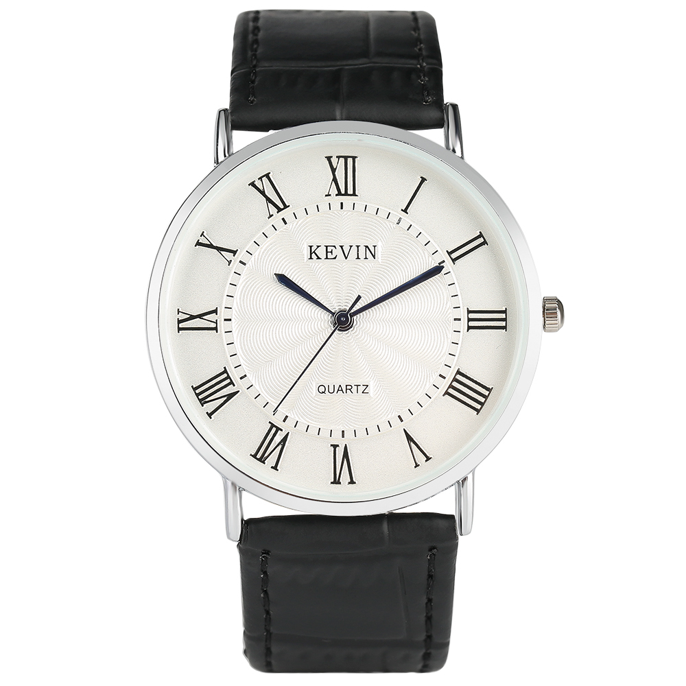 KEVIN Simple Ladies Watches Casual Fresh Red White Watch Leather Band Women Quartz Wrist Watch Men Sport Bangle Clock Relogio mjartoria ladies watches clock women quartz watch simple sport bracelet watch student girl female hand wrist watches for women