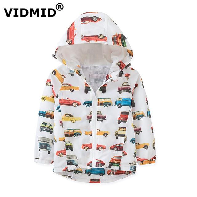 Vidmid chicos chaquetas primavera otoño con capucha coche niños bebés prendas de abrigo abrigos niños chaquetas para niños 2-8y kid ropa rompevientos