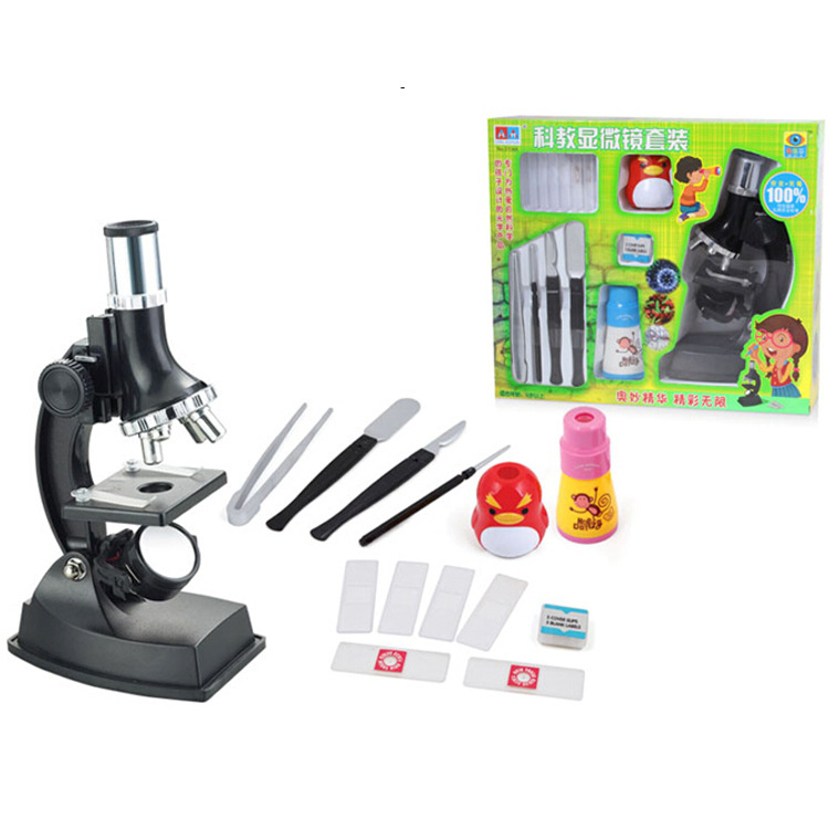 ФОТО 900x Monocular Plastic Toy Childrens Student Educational Biological Microscope for Kid's Birthday Gift