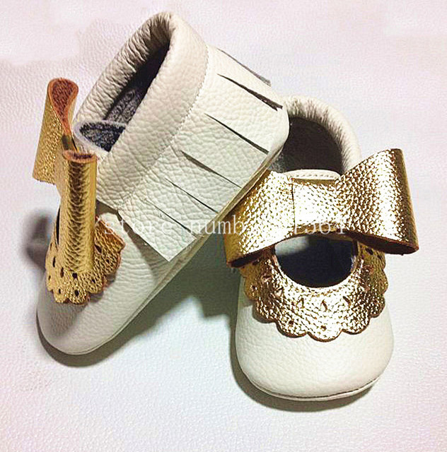 2017 Fashion new flower Genuine Cow Leather Baby Moccasins bow Soft Baby Shoes Newborn girls first walker Anti-slip Infant Shoes