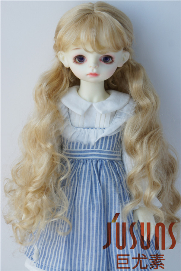 JD417 1/6 1/4 1/3 Pretty long curly BJD synthetic mohair wigs YOSD MSD SD hair style 6-7inch 7-8inch 8-9inch doll accessories pretty short straight blonde 8 synthetic hair wigs free shipping