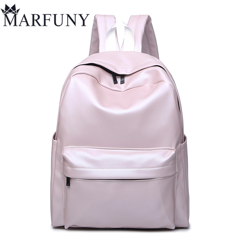 High Quality Pu Leather Backpack Fashion Backpacks For Teenage Girls Schoolbag 2017 New Travel Back Pack Solid Women Bag Mochil сорочка короткая mia mia lady in white белая m