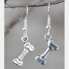 Vintage Silver Dog Bone Drop Earrings For Women Hanging Dangle Earrings Statement Earrings Girls Newest Fashion Jewelry