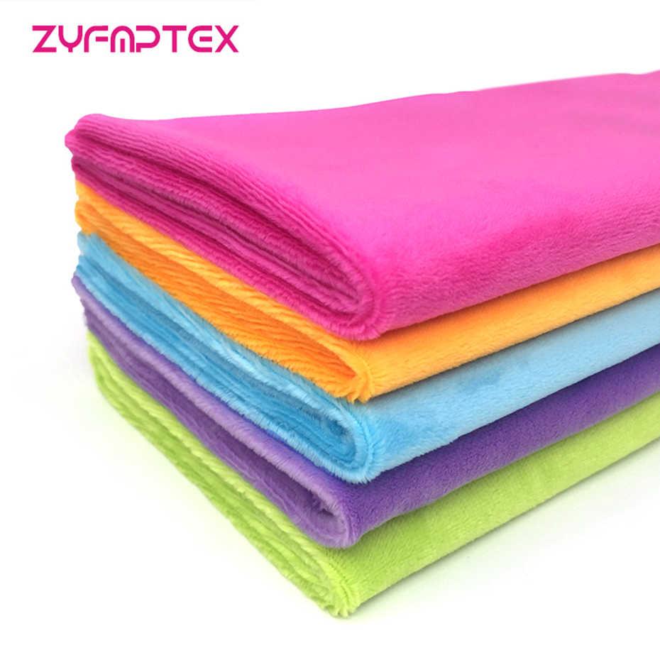 ZYFMPTEX 2019 China 100 Originele Pluche Stof Fabriek Groothandel Prijs DIY Voor Pluche Speelgoed Deken Slipper Super Zachte Pluche