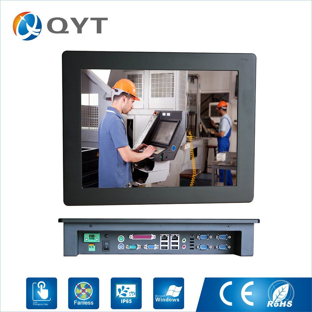 15 ''65 Embeded PC ip Touch Screen Resolução 1024x768 painel pc/Computador Industrial com Intel j1900 2.0 GHz 5 LPT * RS232