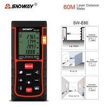 SNDWAY SW E60 60M Upgraded Laser Rangefinder Laser Tape Measure Area Volume Pythagorean Measuremen Premium Measuring