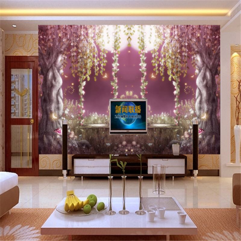 customizable modern 3d photo non-woven mural wallpaper fantasy fairyland old tree bedding room TV background wall home decor beibehang lovely abc print kid bedding room wallpapers ecofriendly fantasy non woven wall paper children mural wallpaper roll